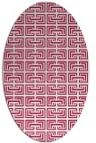 rug #888280   oval red traditional rug