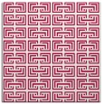 rug #888296 | square red traditional rug