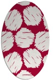 rug #888340 | oval red circles rug
