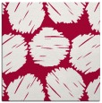 rug #888356 | square red circles rug