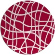 rug #888428 | round red check rug