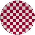rug #888448 | round red check rug
