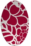 rug #888460 | oval red graphic rug