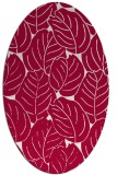 rug #888520 | oval red natural rug