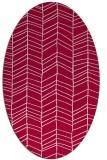 rug #888560 | oval red stripes rug