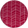 rug #888568 | round red stripes rug