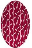 rug #888580 | oval red natural rug