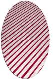 rug #888600 | oval red rug