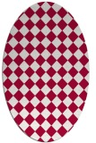 rug #888620 | oval red check rug