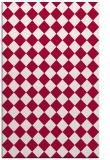 rug #888624 |  red check rug