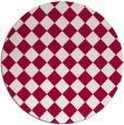 rug #888628 | round red check rug