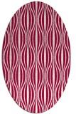 rug #888640 | oval red stripes rug