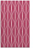 rug #888644 |  red retro rug