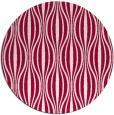 rug #888648   round red stripes rug