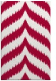 rug #888664 |  red stripes rug