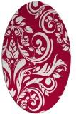 rug #888740 | oval red popular rug