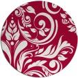 rug #888748 | round red damask rug