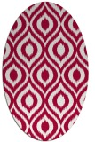 rug #888800 | oval red animal rug