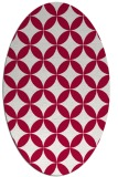 rug #888820 | oval red traditional rug