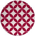 rug #888828 | round red circles rug