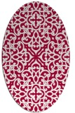 rug #888840 | oval red traditional rug
