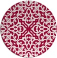 rug #888848 | round red traditional rug
