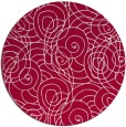 rug #888888 | round red popular rug