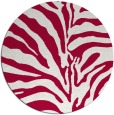 rug #889008 | round red rug