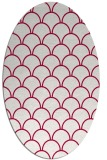 rug #889040   oval red traditional rug