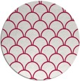 rug #889048 | round red traditional rug