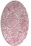 rug #889140 | oval red rug