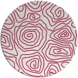 rug #889148 | round red rug
