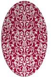 rug #889160   oval red popular rug