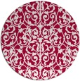 rug #889168 | round red traditional rug