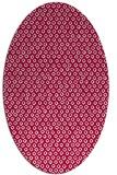 rug #889240 | oval red rug