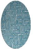 rug #889283 | oval retro rug