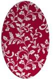 rug #889300 | oval red rug