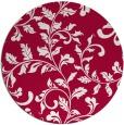 rug #889308 | round red popular rug