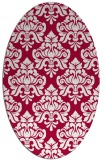 rug #889320 | oval red traditional rug