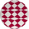 rug #889348 | round red check rug