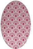 rug #889360 | oval red retro rug