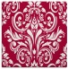 rug #889456 | square red traditional rug