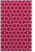 rug #889464 |  red geometry rug