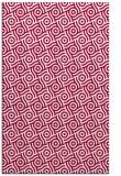 rug #889504 |  red geometry rug