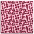 rug #889516 | square red circles rug