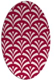 rug #889780 | oval red graphic rug