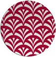 rug #889788 | round red graphic rug