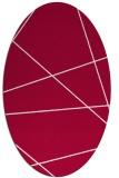 rug #889880 | oval red stripes rug