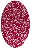 rug #889940 | oval red popular rug