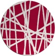 rug #889968 | round red abstract rug